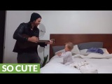 When her dad begins to play the guitar, this baby girl has the best reaction ever!
