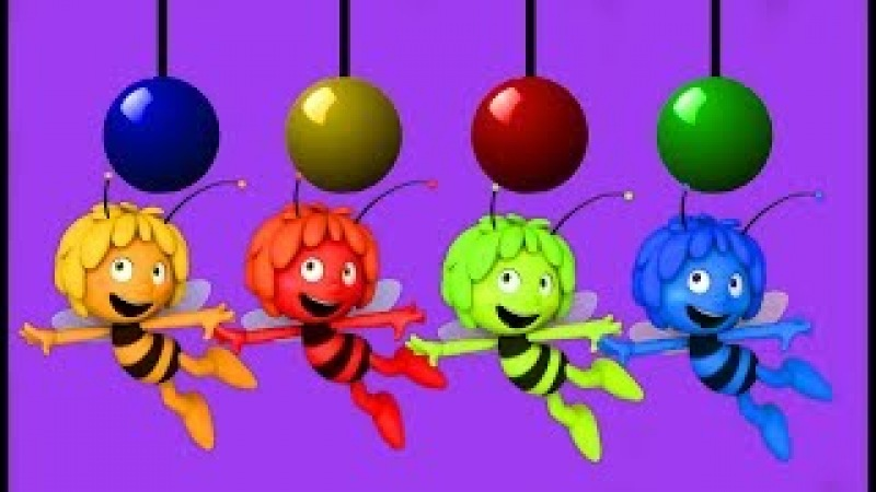 Learn colors with pendulum ball with honey bee FACE HAMMER For Toddlers by Bingo Funny Rhymes Tv