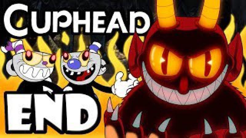 """CUPHEAD Mugman - 2 Player Co-Op! - Gameplay Walkthrough ENDING """"Dealing with the Devil"""" Final Boss"""