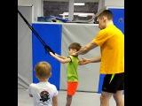 Отрывок с тренировки по силовой гимнастике №1