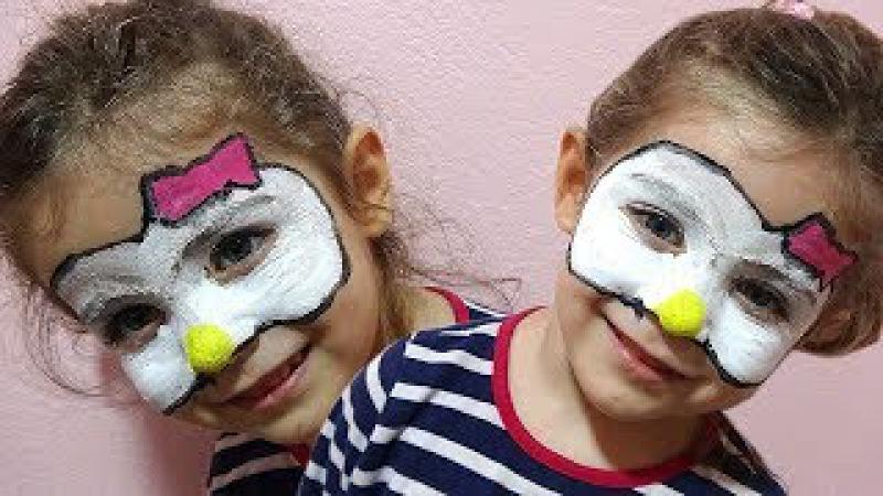 Cemre Suya Yüz Boyama Makyajı Yaptık Hello Kitty Oldu| Yüz Boyama Videoları|Yüz Boyama Hello Kitty|