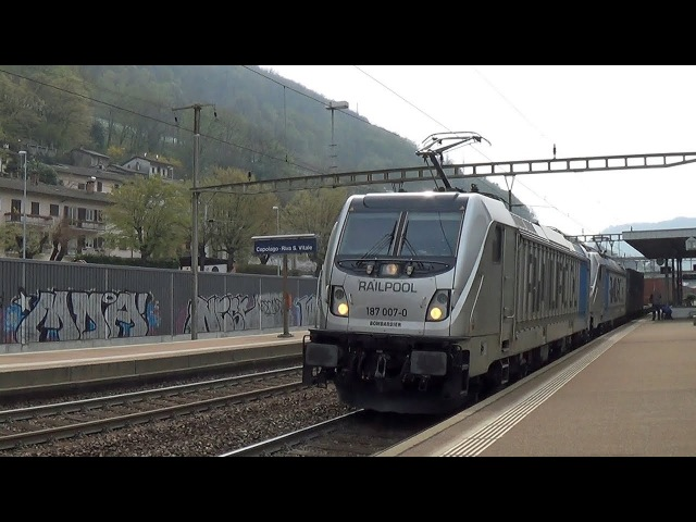 2016 Capolago-Riva S.Vitale (CH) BR 187 RailPool, BR 185 DB... Ferrovia Monte Genoroso...