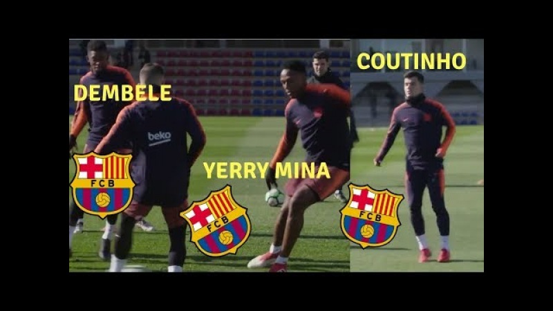 Coutinho,Dembele and Yerry Mina training(Let's Build Confidence) ft.Messi,Suarez,Paulinho,Iniesta,..