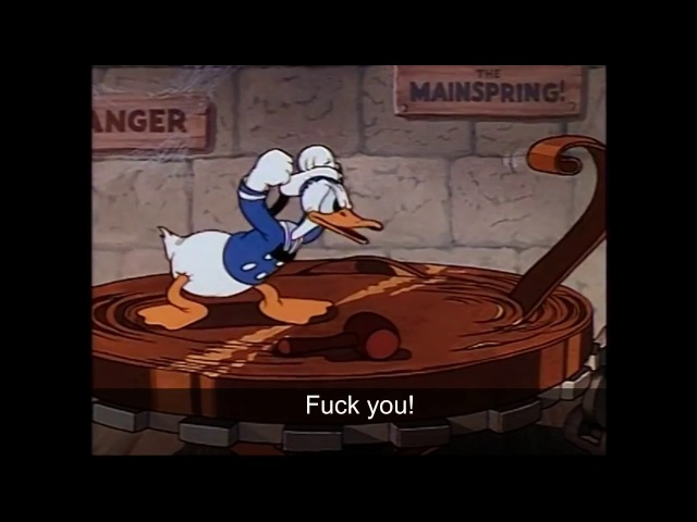 Donald Duck Cussing Compilation