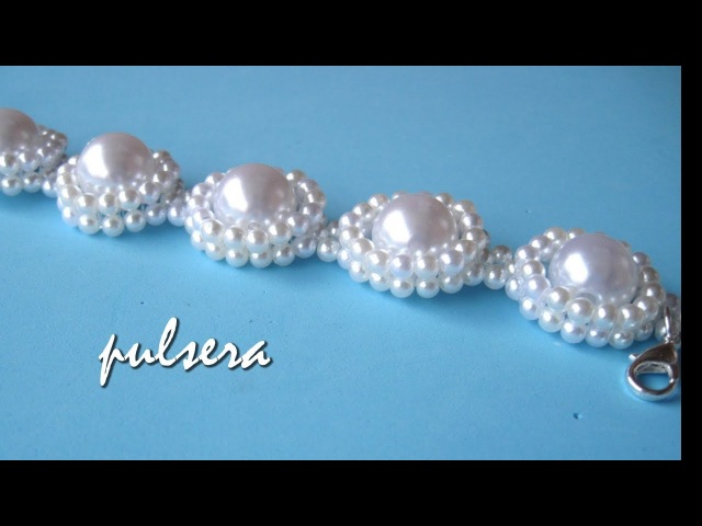 DIY - Pulsera todo perlas para novias - Bracelet all pearls, for brides