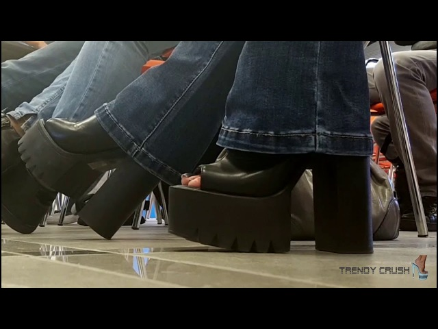 Public High Heels Boots 039v T15 Black Enamel 001 (FULL VERSION)
