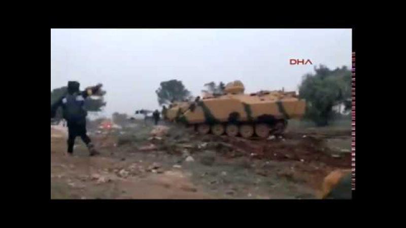 Afrin operasyonu Azez burseya dagindaki catismadan sicak anlar