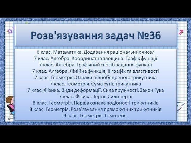 ГДЗ №36. Математика 6. Алгебра 7. Геометрія 7-9. Фізика 7.
