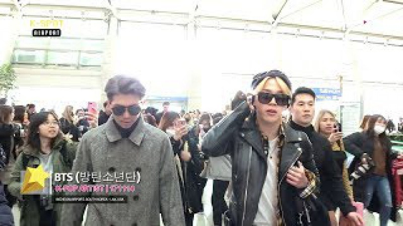 [K-SPOT] BTS (방탄소년단) at ICN to LAX Airport, California