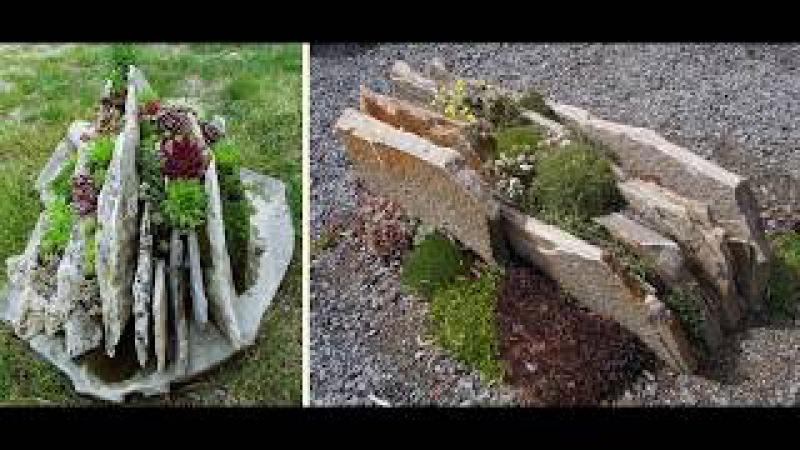Камень и гравий как часть декора сада или дачи