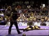 Black girl wrestler kicks opponent in the vag