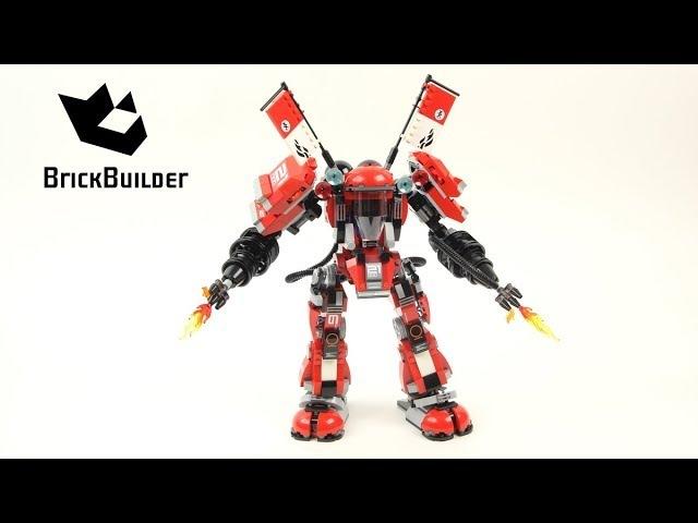 Конструктор Bela Ninjago 10720 Огненный Робот Кая аналог Lego 70615
