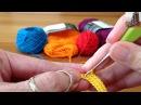 Crocheting a strap for a Mochila