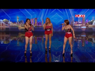 Singing trio Miss Tres has big surprise _ Asia's Got Talent Episode 3