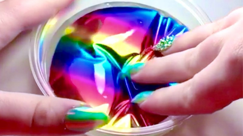 Satisfying Glitter And Rainbow Slime ASMR Compilation 1
