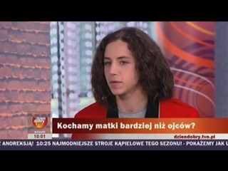 Dziecko bardziej kocha mamę niż tatę - wideo Dzień Dobry TVN - Michał Szpak