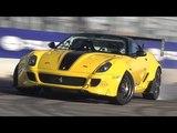 Ferrari 599 GTB Drift Car! - 900+HP Twin Supercharged V12 Engine Sound! Fiorella WORLD PREMIERE