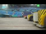 Выкатили поле стадиона на Крестовском острове