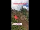 Жесткое падение во время тренироки на трассе соревнований по маутинбайку DH