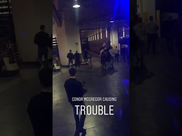 Conor McGregor and His Entourage Go Crazy Backstage During UFC 223 Arrival