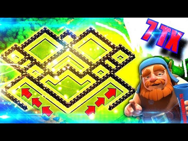 Расстановка 7 ТХ | ТАЩЕРСКАЯ БАЗА Clash of Clans