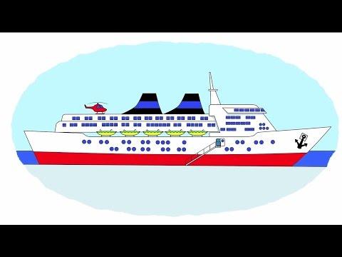 Das Zeichentrick-Malbuch. Farben lernen – Wasserfahrzeuge: Motorboot, Schiff, U-Boot