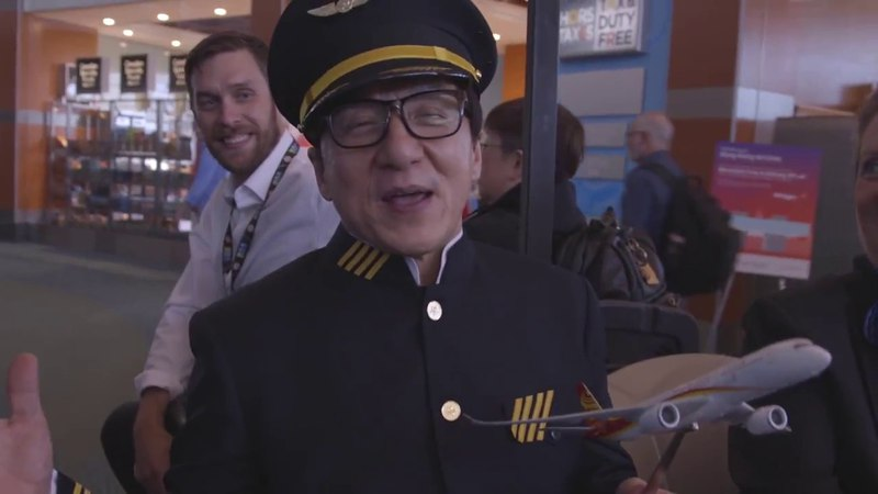 Hong Kong Airlines Inaugural at YVR with Jackie Chan