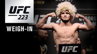 Прямая трансляция показательной церемонии взвешивания UFC 223