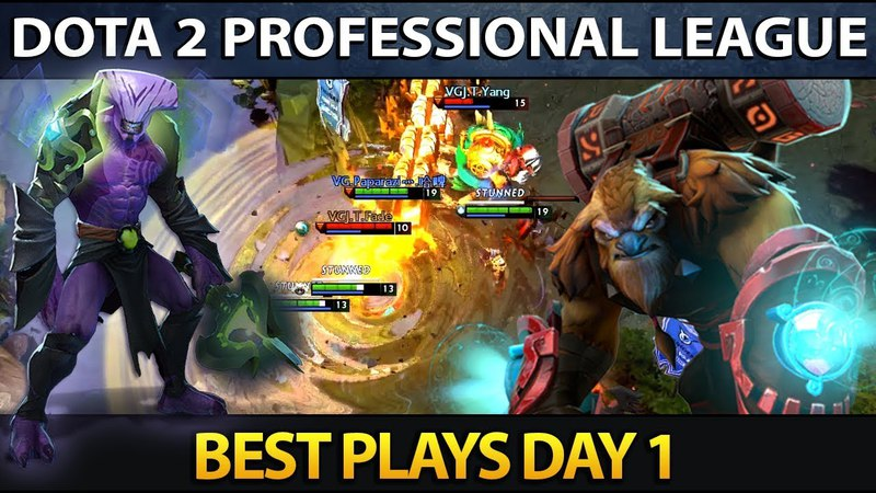 Dota 2 Professional League Season 5 - Best Plays - Day 1