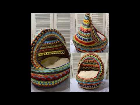 Canastas de gatos tejidos a crochet
