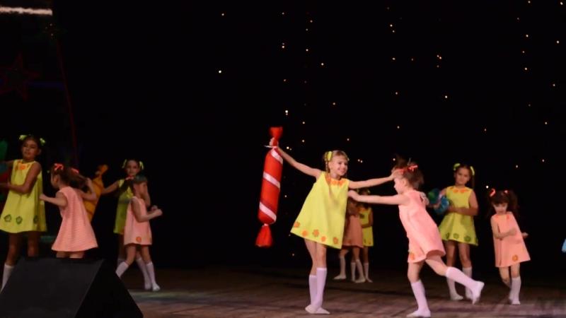 Веселый, детский танец Сладкоежки. Танцевальная студия Мандарин, Кременчуг