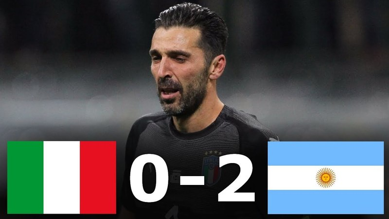 Italy vs Argentina 0 2 All Goals Highlights Friendly 23 03 2018