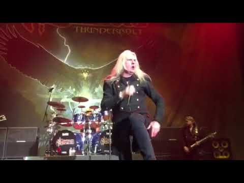 Saxon live Thunderbolt the power and the glory, at the armory in Minneapolis, 4/2/18