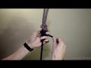 брамшкотовый узел  для связывания двух верёвок различного диаметра