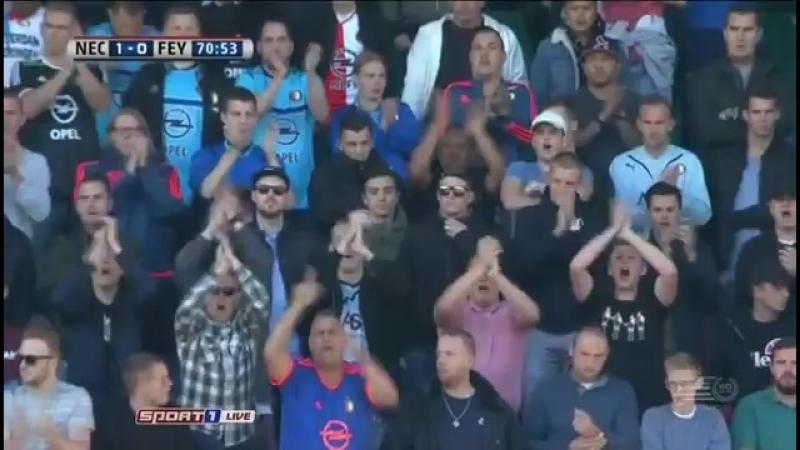 Чeмпuoнaт Нuдepлaндoв 2016-17 Eredivisie 9-й тyp Нeймeгeн vs Фeйeнopд 2 тайм 16.10.2016 360p