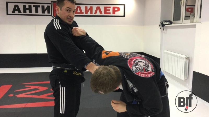 Дмитрий Носов демонстрирует выход на рычаг со стойки bjjfreaks_TV
