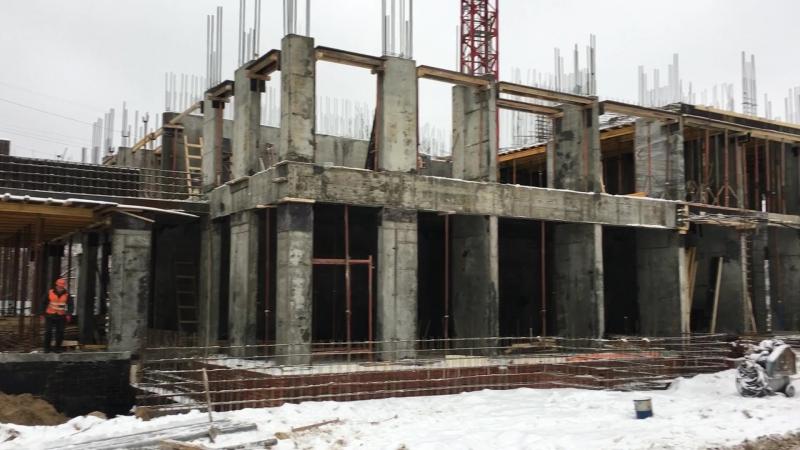 Строительство ЖК Циолковский Плаза отчет от 20 декабря 2017г.