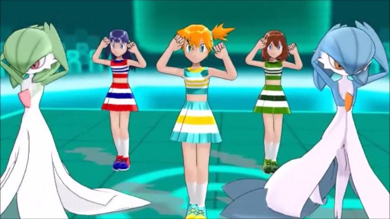 [MMD]Pokemon Cheerlearders - Misty, Dawn, May, Gardevoirs - Gokuraku Jodo