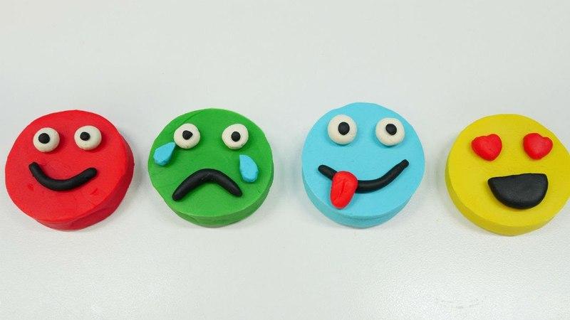 Play Doh oyun hamurundan emojiler. Eğitici çocuk videosu