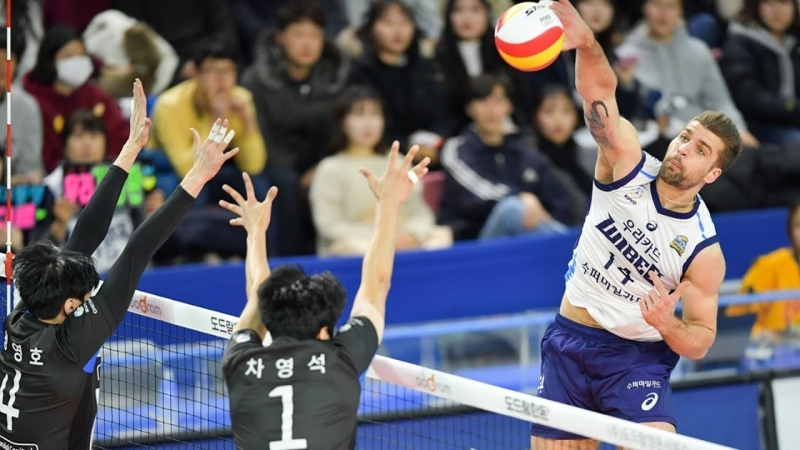 Best Volleyball Spikes in the Korean League. Volleyball 2018.