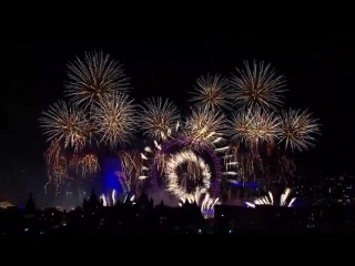 «Set Fire To The Rain» during London's New Year's Eve fireworks display