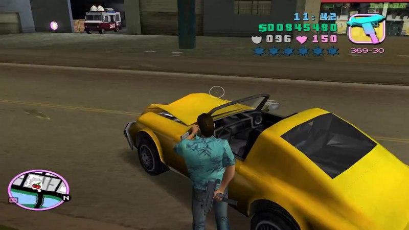 Прохождение GTA Vice City на 100% Угон автомобилей Список 1