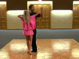 Julianne Hough and Chuck Wicks training for DWTS!