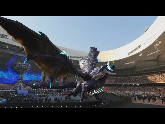 When Elder Dragon Entered Bird's Nest Stadium Leagueoflegends