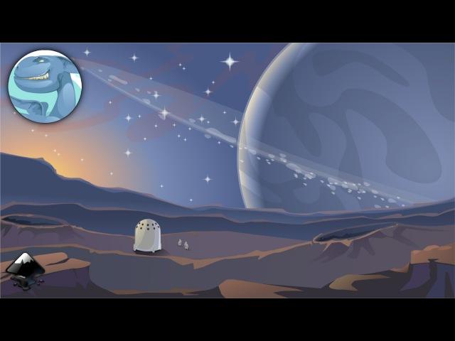 Space landscape. Speed art in Inkscape.
