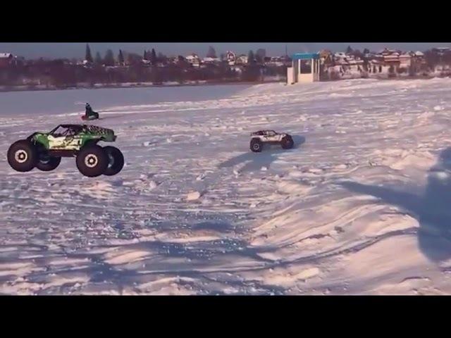 Заезд 2х Axial Yeti XL - Уфа, озеро Кашкадан, старый новый год 2017
