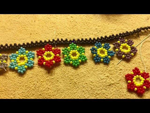 DIY - Flower Beads, Kum Boncuk ile Çiçek Yapımı