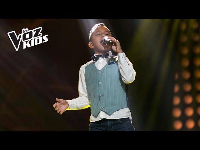 Santiago Santos canta Mi Viejo - Audiciones a ciegas   La Voz Kids Colombia 2018