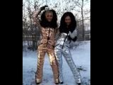 Odri Silver and Rose Gold Ski Suits