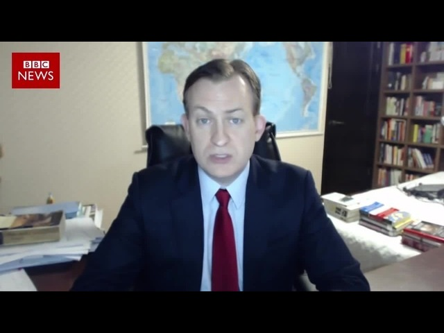 Girl interrupted BBC News interview Девочка прервала интервью